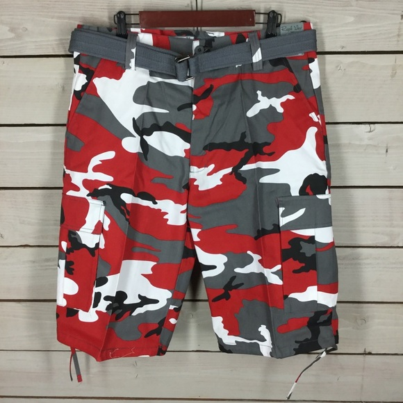 383301621c regal wear Shorts | Nwt Red Camo Cargo Mens Size 38 | Poshmark